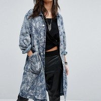 G-Star Boyfriend Overcoat with Paint Effect at asos.com