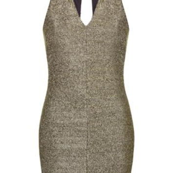TALL Chainmail Bodycon Dress - Gold