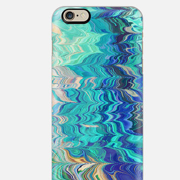 iPhone 6 Case , Feathered Marble iPhone 6 case , Blue Marbled iPhone case, iPhone 5c case, multi color cell case, cellcasebythatsnancy