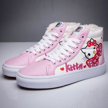 CREYON Trendsetter VANS X Hello Kitty SK8-Hi Flats Ankle Boots Sneakers Sport Shoes