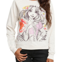 Disney Tangled Rapunzel Sketch Girls Pullover Top