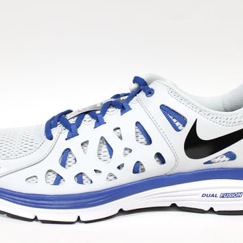Nike Men's Dual Fusion Run 2 Platium/Blue Running Shoes 599541 010