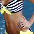 ON SALE reg 162. Neon Yellow Bandeau Sailor Swarovski Bikini