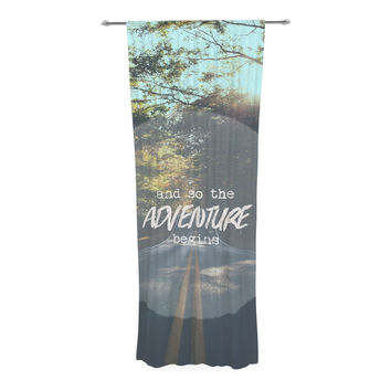 "Ann Barnes ""The Adventure Begins"" Typography Nature Decorative Sheer Curtain"