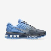 PEAPON3V NIKE AIR MAX Blue & Grey Women's Running Shoes Sneakers