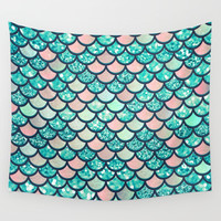 Mermaid Dream Wall Tapestry by Printapix