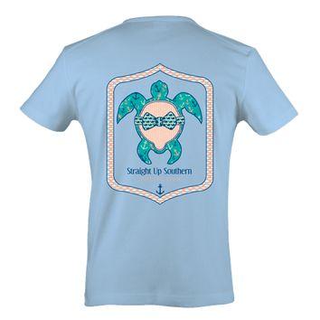 Itsa girl Thing Preppy Turtle Anchor Bow Southern Bright Girlie T-Shirt