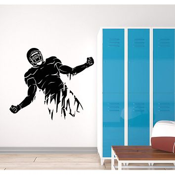 Vinyl Wall Decal Abstract Sport American Football Player Helmet Stickers (3015ig)