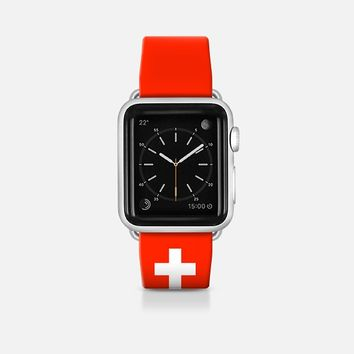 Switzerland flag - Patriot collection Apple Watch Band (42mm)  by WAMDESIGN | Casetify