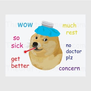 Get Well Doge Printable Card
