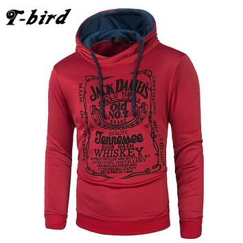 T-bird hoodie Men Letter 3D printing Hip Hop Sweatshirt fashion Mens hoodie 2017 brand Winter Cotton pullover male hoody Moleton