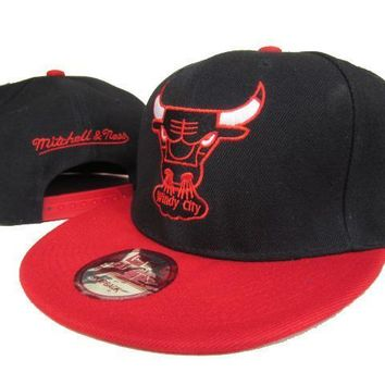 PEAPON Chicago Bulls NBA 9FIFTY Cap Windy City Patch M&N Black-Red