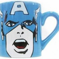 ROCKWORLDEAST - Captain America, Coffee Mug, Face