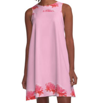 'Rosy Floral ' A-Line Dress by epoliveira