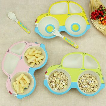 Car shape Cartoon Divided Dishes Snack Dishware