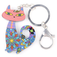 Multi Cat Key Chain