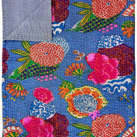 Handmade Kantha Quilt, Indian Cotton Kantha Bedspread Bedding Quilt Kantha Ralli Gudri Coverlet,Paisley Reversible Quilt ALL size available