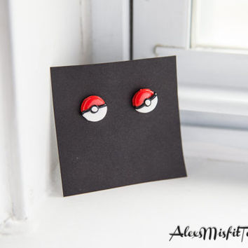Pokeball, Master Ball, Great Ball, or Ultra Ball Post Earrings
