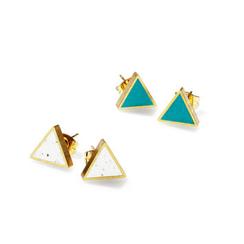 Moonlight for Violet Triangle Earrings