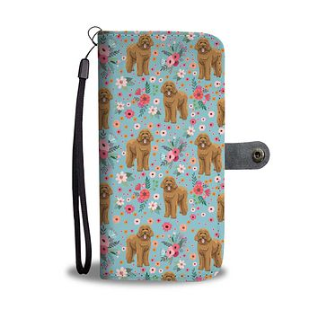 Goldendoodle Flower Wallet Phone Case-Clearance