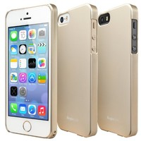 iPhone SE / 5S / 5 Case, Ringke [SLIM] Snug-Fit Slender [Tailored Cutouts] Ultra-Thin Superior Coating PC Hard Skin cover for Apple iPhone SE (2016) / 5S (2013) / 5 (2012) - Royal Gold