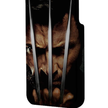 Best 3D Full Wrap Phone Case - Hard (PC) Cover with X Men Wolverine 2 Design