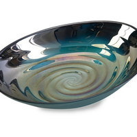 Modern Art Moody Swirl Glass Bowl by IMAX