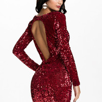 Velvet Sequins Open Back, Oneness