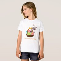 Your Bunny Got Easter Eggs Girls' Organic T-Shirt