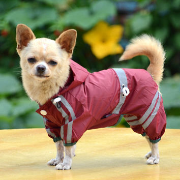 Small Dog  or Cat Raincoat Light Jacket
