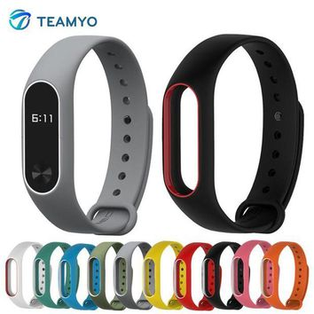 DCCKFS2 Teamyo Original Mi Band 2 Strap for xiaomi mi band 2 Bracelet Silicone Wristband Smart Band Accessories Miband 2 Colorful Strap