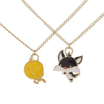 Looney Tunes Tweety and Sylvester The Cat Bestie Necklace Set