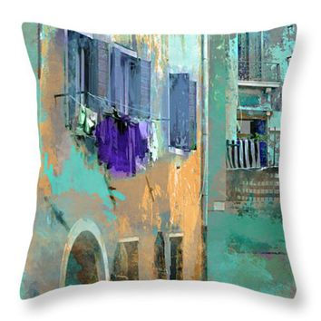 Venice Washday In Blue by Suzanne Powers