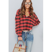 Need You Always Flannel Top (Red/Black)
