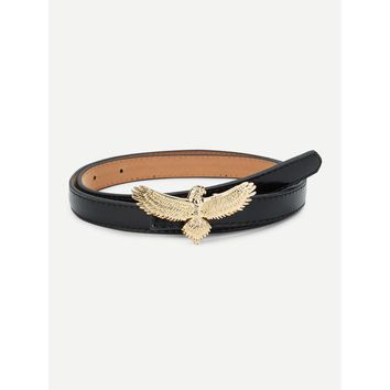 Eagle Shaped Buckle Belt Black