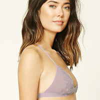 Dot Mesh Applique Bralette