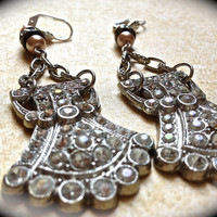 Vintage chandelier crystal earrings