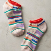Mixed Stripe Ankle Socks by Stance Lilac One Size Socks