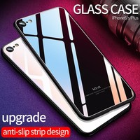 Msvii for iPhone8 Glass case for iPhone 8 Case for iphone 8 7 Plus Luxury Protective Back Cover Pink Shockproof