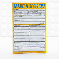 Make a Decision Pad - Urban Outfitters