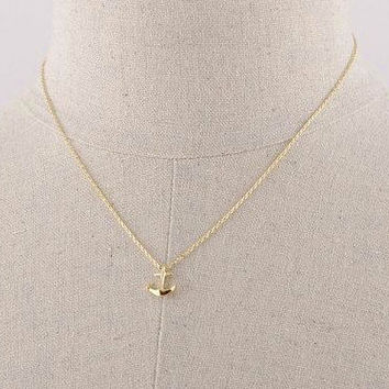 Anchor Necklace, Small Marine Necklace, Dainty Anchor Necklace, Anchor Charm Necklace, Anchor Necklace, Nordic Minimal Necklace, Nautical