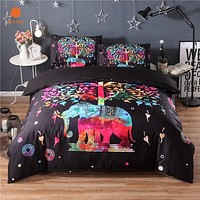 New Black TreeElephant 3Pcs/2Pcs 3D bedding sets Mandala duvet cover set Summer spring Pillowcase queen king size Bedlinen sj59