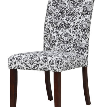 Monett Black and Ivory Tufted Dining Chair (Set of 2)