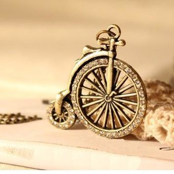N193 Long Chain Pendant Necklaces Fashion Bike Necklace Vintage Jewelry