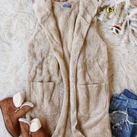 Softest Teddy Vest in Taupe