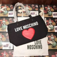LOVE MOSCHINO Cute Canvas Shopping Bag
