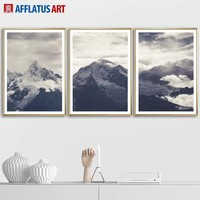 Snow Mountain Cloud Landscape Wall Art Canvas Painting Posters And Prints Nordic Poster Wall Pictures For Living Room Home Decor