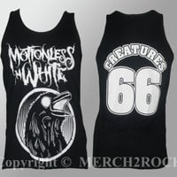 Authentic MOTIONLESS IN WHITE Raven Tank Top  S M L XL 2XL Licensed NEW