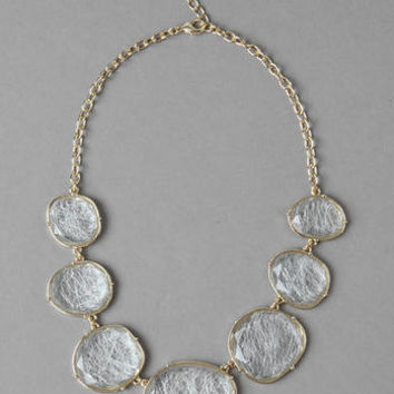 SINTON FACETED STATEMENT NECKLACE