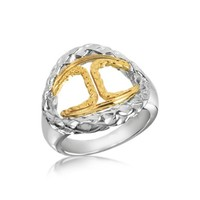Just Cavalli Designer Rings Icon Stainless Steel Signature Ring